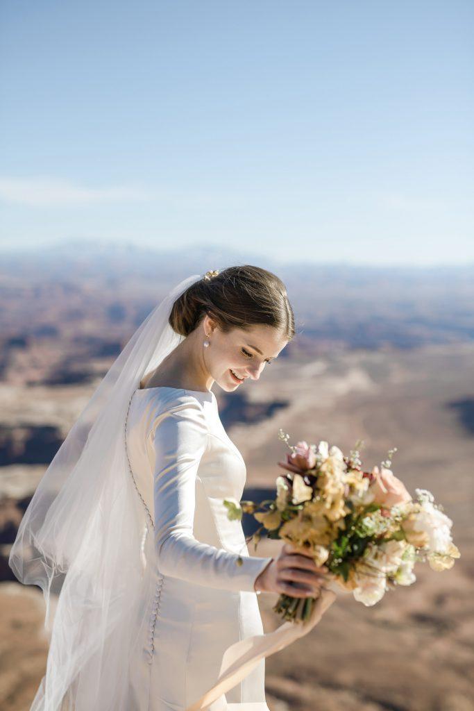 Bride at Green River Overlook