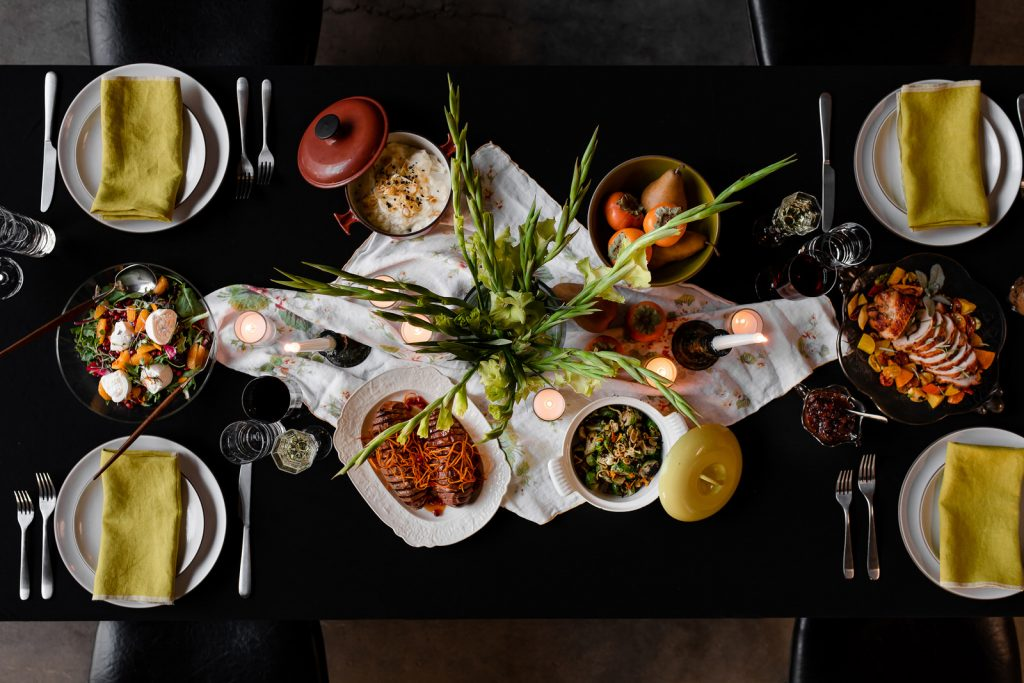 Thanksgiving Flat lay at The Blended Table