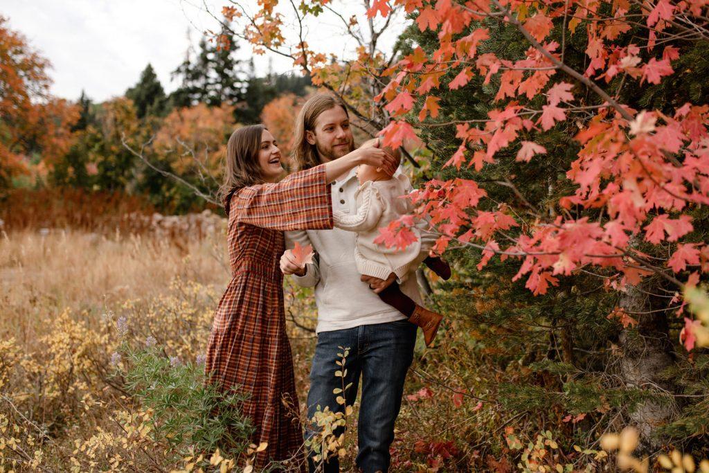 Fall Family Photos at Snowbasin Resort
