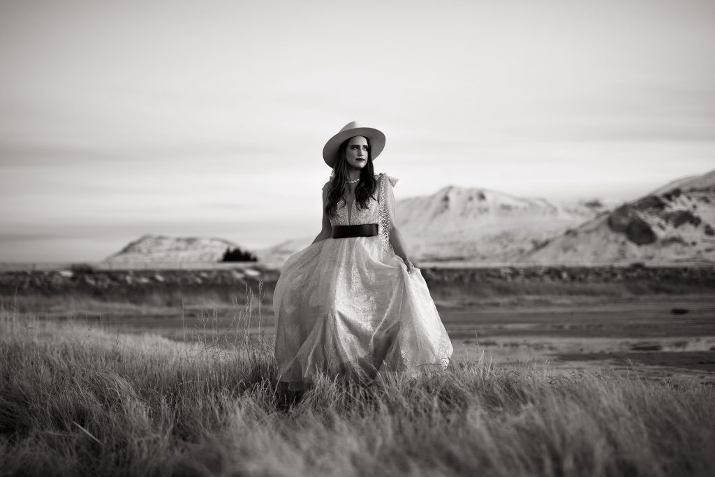 Boho Bride at the Great Salt Lake