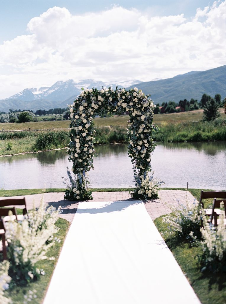 River Bottoms Ranch Wedding Ceremony decor